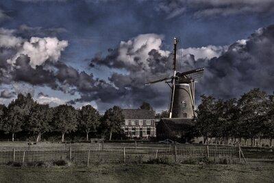 Windmühle De Onderneming in Wissenkerke, Zeeland, bearbeitet