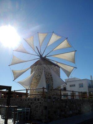 Windmühle in  Antimachia auf Kos