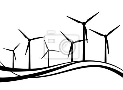 Windräder Silueta