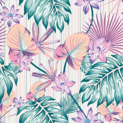 Cuadro Winter tropical pattern seamless stripe background