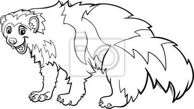 Wolverine Página Para Colorear De Dibujos Animados De Animales