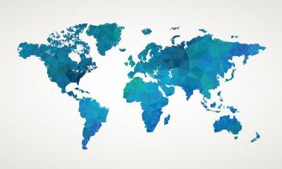 Cuadro World map vector abstract illustration pattern