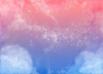 Cuadro ふ わ ふ わ ピ ン ク の 空 Fluffy Pink Sky