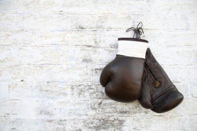Cuadro перчатки для бокса висят на стене