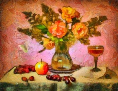 Cuadro Натюрморт с розами
