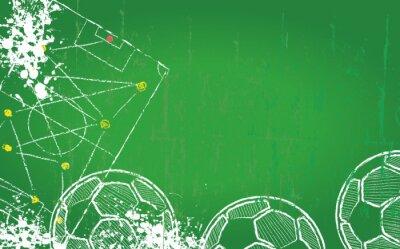 Cuadro Fútbol plantilla de diseño / Fútbol, espacio de libre copia, vector