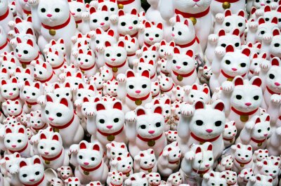 Cuadro Goutokuji-templo Gato de Beckoning, Tokio, Japón (豪徳寺 の 招き猫)