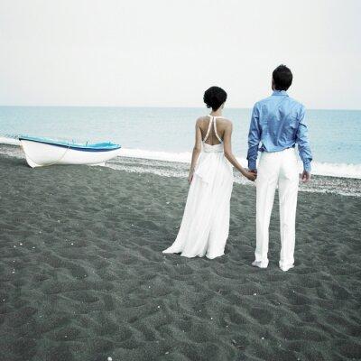 Cuadro Los recién casados en el mar