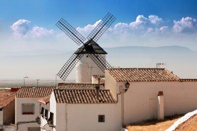 molinos de viento en Сampo de Criptana, La Mancha, España