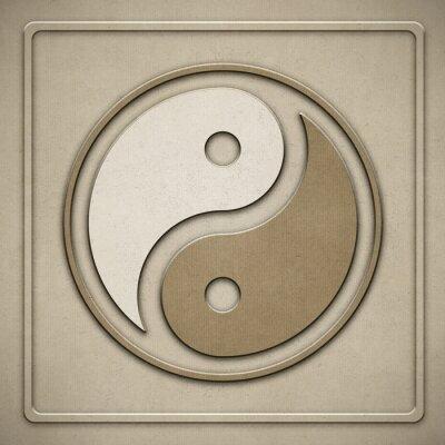 Cuadro Yin Yang - papel - gofrado