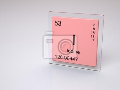 Yodo smbolo i elemento qumico de la tabla peridica pinturas cuadro yodo smbolo i elemento qumico de la tabla peridica urtaz Image collections