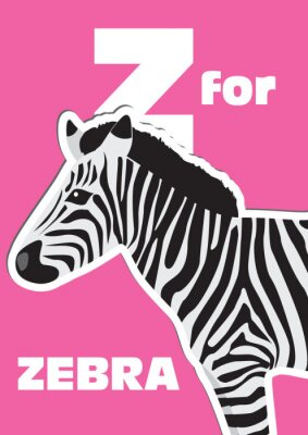 Cuadro Z para la cebra, un alfabeto de los animales para los niños