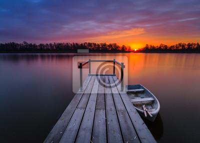 Zachód słońca nad przystanią