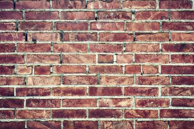 Cuadro Zbliżenie na Stary mur z cegieł