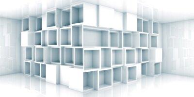 Fotomural 3d interior vacío abstracto habitación con armario en la esquina