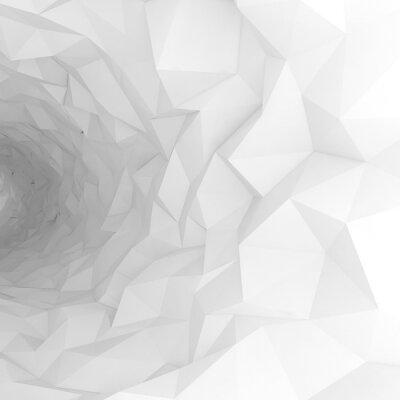 Fotomural 3d túnel con la superficie caótica poligonal