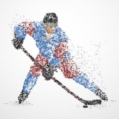 Fotomural Abstracción, hockey, hielo, puck
