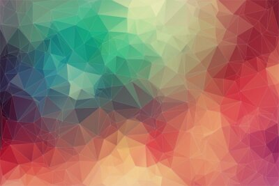 Fotomural Abstract 2D geometric colorful background