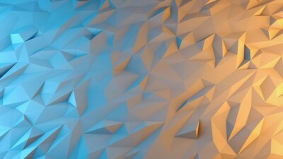 Fotomural abstract 3d render background. Techno triangular low poly background