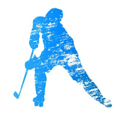 Fotomural Abstract grungy vector ice hockey player