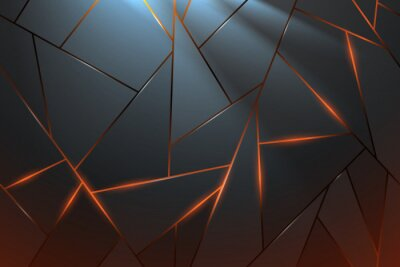 Fotomural Abstract metal background with light effect