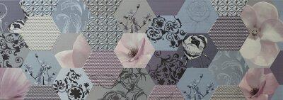 Fotomural Abstract mosaic tiles Portugués