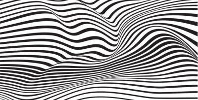 Fotomural abstracta Mobious vector de onda vibrante fondo óptica