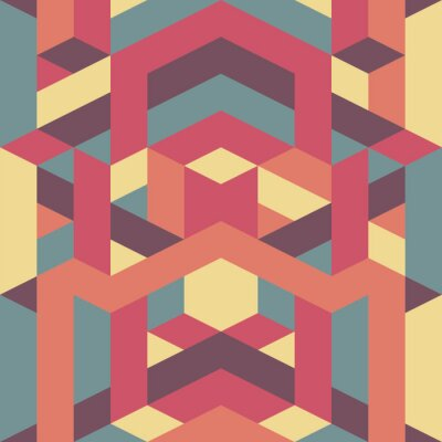 Fotomural abstracto retro patrón geométrico