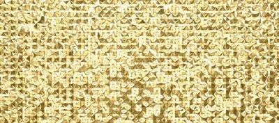Fotomural abstrakte 3d polygon kunst im muster oder raster design, in verschiedenen farben erhältlich, scharf und hochauflösend