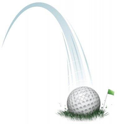 Fotomural acción de pelota de golf
