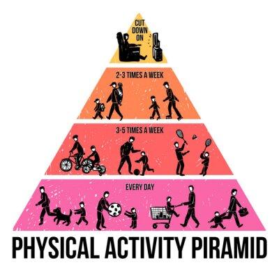Fotomural Actividad Física Infografía