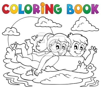 Actividad libro para colorear de verano 1 fotomural • fotomurales ...