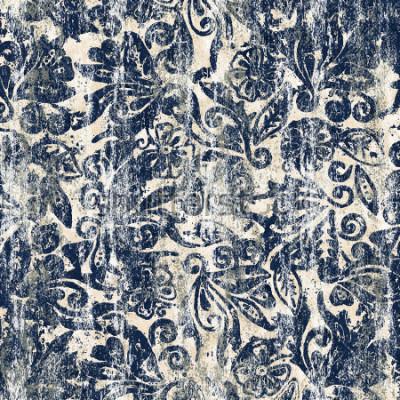 Fotomural Acuarela floral textura repetir patrón moderno