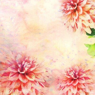 Fotomural Acuarela ilustración de tema floral