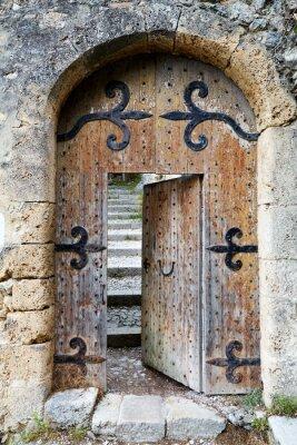 Fotomural Ajar old wooden door