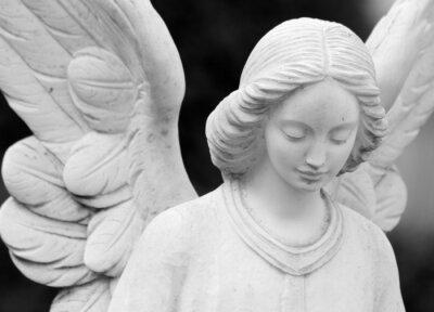 Fotomural alas detalle estatua angelical de la cara y las alas