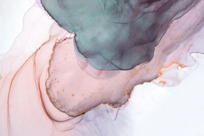 Fotomural Alcohol ink sea texture. Contemporary art. Abstract art background. Multicolored bright texture. Fragment of artwork. Modern art. Inspired by the sky, as well as steam and smoke. Trendy wallpaper.
