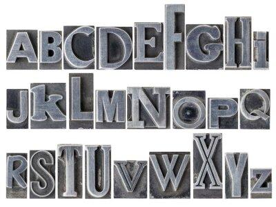 Fotomural alfabeto en el tipo de metal mixto