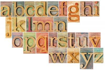Fotomural alfabeto en letterpress tipo de madera