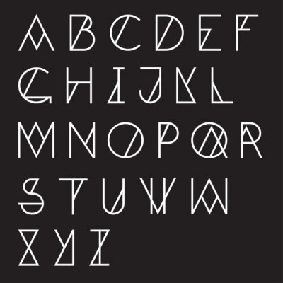 Fotomural Alfabeto geométrico moderno