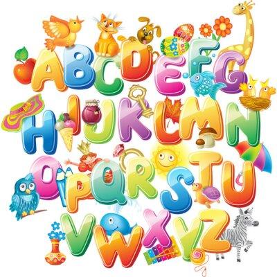 Fotomural Alfabeto para los niños con fotos