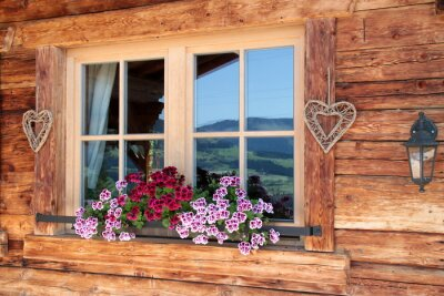 Fotomural Alpes en la ventana
