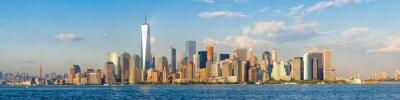 Fotomural Alta resolución vista panorámica del centro de la ciudad de Nueva York horizonte visto desde el océano