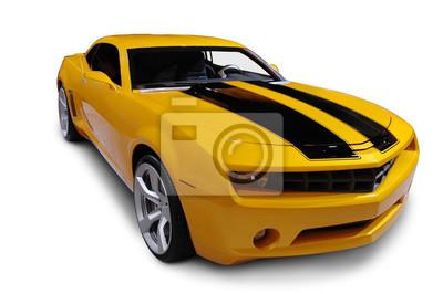 Fotomural Amarillo American Sports Car