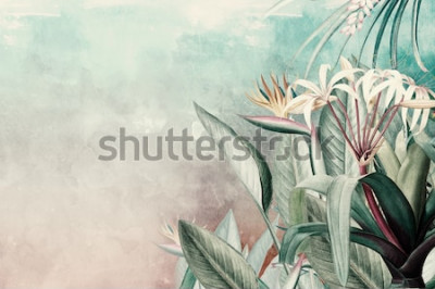 Fotomural Amazon Green Tropical Leaves Wallpaper
