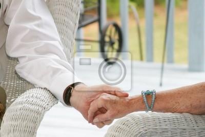 Ancianos Tomados De La Mano Fotomural Fotomurales Saliente Devoto