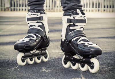 Fotomural andar en patines para el patinaje. foto tonos