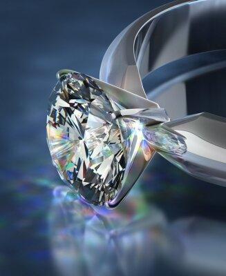 Fotomural anillo de brillantes