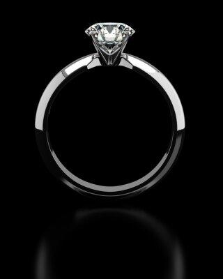 Fotomural Anillo de diamante único