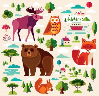 Fotomural Animales del bosque
